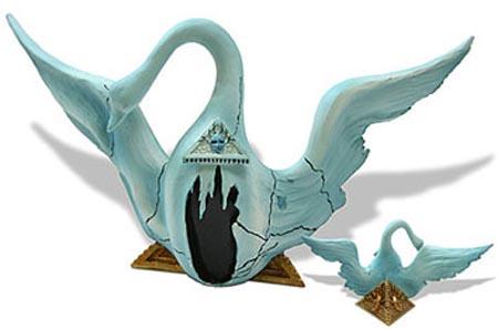 Salvador Dali WINGED SWAN FOR BACCHANALE BALLET Sculpture