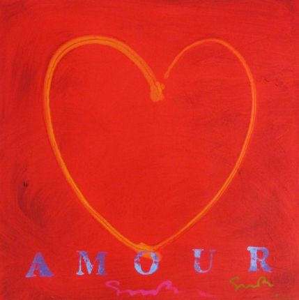 "SIMON BULL ""AMOUR"" Hand Signed Giclee on Canvas"