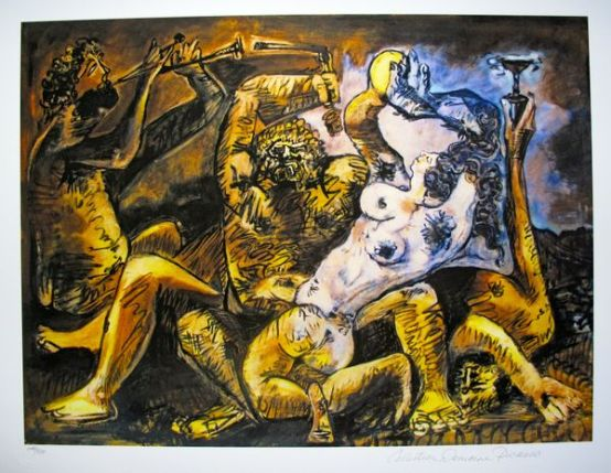 #03 BACCHANAL Pablo Picasso Estate Signed Giclee