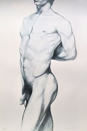 Lowell Nesbitt ANGELO Hand Signed Limited Edition Lithograph