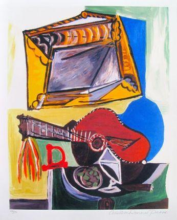#01 STILL LIFE WITH GUITAR Pablo Picasso Estate Signed Giclee