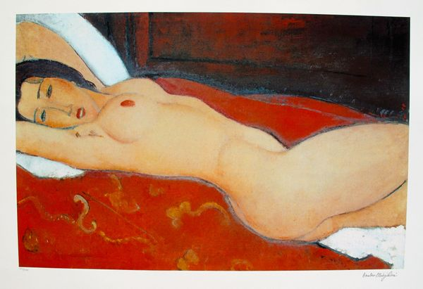 Amadeo Modigliani RECLINING NUDE Signed Limited Edition Large Giclee