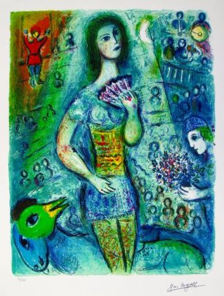 Marc Chagall CIRCUS FAN DANCER Limited Edition Facsimile Signed Giclee