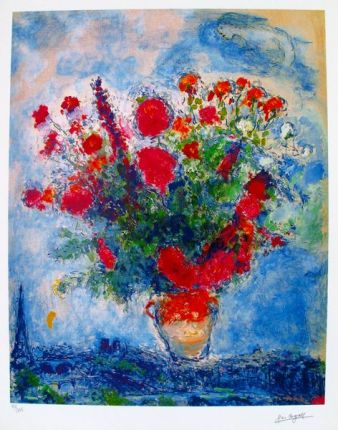 Marc Chagall BOUQUET OVER PARIS Limited Edition Small Giclee