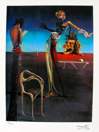 Salvador Dali WOMAN WITH HEAD OF ROSES Facsimile Signed & Numbered Giclee
