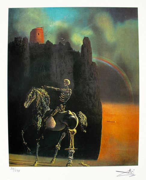 Salvador Dali HORSEMAN OF DEATH Facsimile Signed Limited Edition Giclee