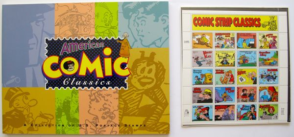 American Comic Classics Book with 20 Postage Stamps United States Postal Service