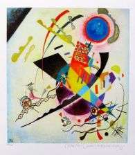 Wassily Kandinsky BLUE CIRCLE Estate Signed Limited Edition Small Giclee