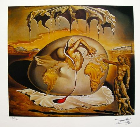 Salvador Dali GEOPOLITICAL CHILD Facsimile Signed & Numbered Giclee