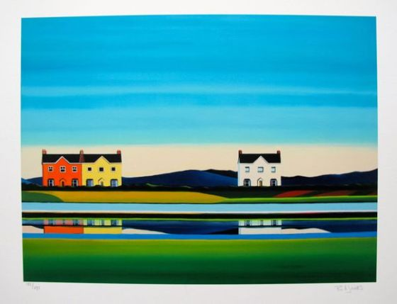 Barbara James ACROSS THE WATER Hand Signed Limited Ed. Giclee