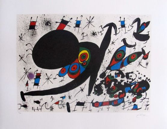 Joan Miro HOMAGE TO JOAN PRATS Facsimile Signed Limited Edition Lithograph