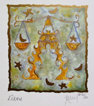 Kelly Jane LIBRA Hand Signed Limited Ed. Lithograph