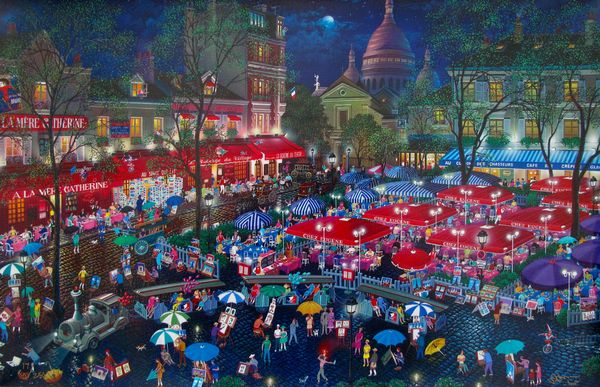Alexander Chen A NIGHT IN MONTMARTRE Limited Ed. Hand Signed Serigraph