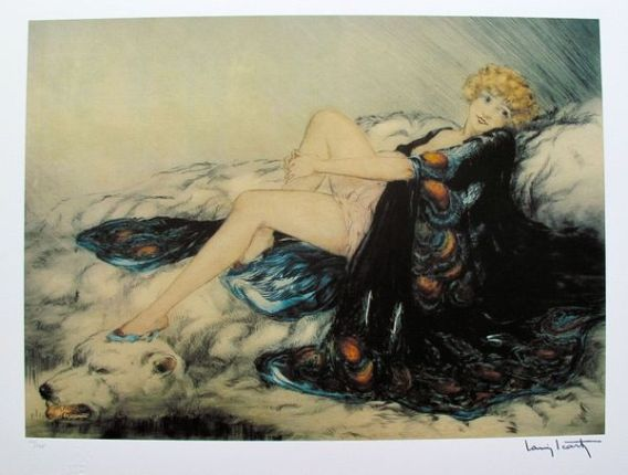 Louis Icart SILK ROBE Limited Edition Giclee