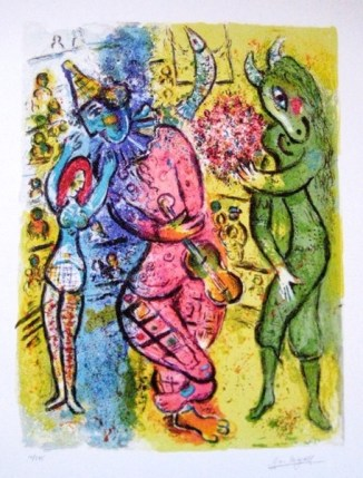 Marc Chagall CIRCUS V Limited Edition Facsimile Signed Giclee