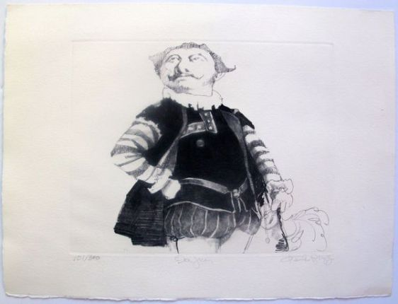"CHARLES BRAGG ""DON JUAN"" Hand Signed Limited Edition Etching RARE!"