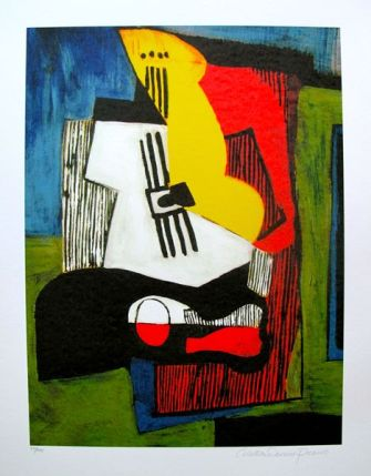 #28 STILL LIFE WITH GUITAR Pablo Picasso Estate Signed Giclee