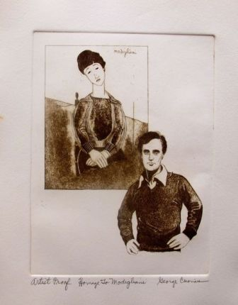 "GEORGE CRIONAS ""HOMAGE TO MODIGLIANI"" Hand Signed Limited Edition Etching"