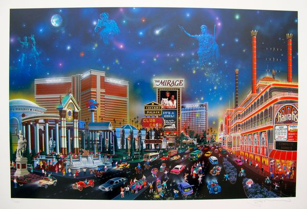 "Alexander Chen ""LUCK BE A LADY"" LAS VEGAS Limited Ed. Hand Signed Serigraph"