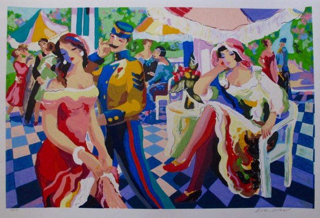 "This is a Michael Kerman limited edition original hand signed serigraph titled ""ENCHANTED AFTERNOON"" serigraph"
