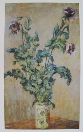 Claude Monet PURPLE POPPIES Plate Signed Lithograph