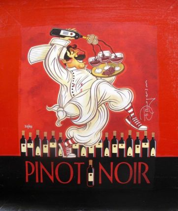 "TIM ROGERSON ""PINOT NOIR"" Hand Signed Ltd Edition Giclee on Canvas"