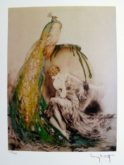 Louis Icart PEACOCK Facsimile Signed Limited Edition Giclee Small