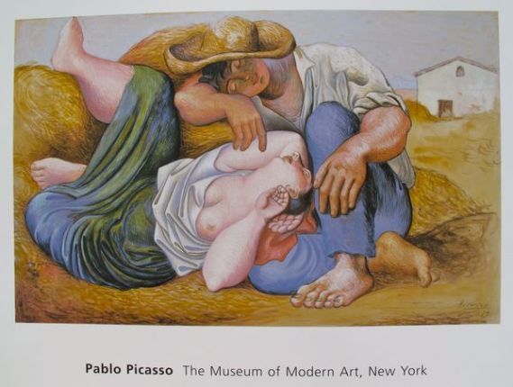 Pablo Picasso SLEEPING PEASANTS Plate Signed Lithograph