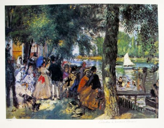 Pierre Auguste Renoir BATHING IN THE SEINE Estate Signed Giclee