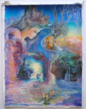 Josephine Wall SWEET SYNERGY Hand Signed Embellish Giclee on Canvas