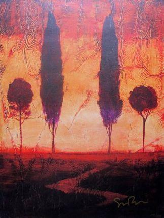 """SIMON BULL """"TOSCANA III"""" Hand Signed Giclee on Canvas"""