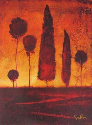 """SIMON BULL """"TOSCANA IV"""" Hand Signed Giclee on Canvas"""