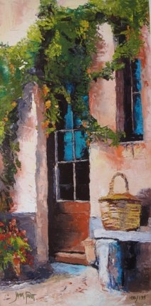 James Pratt TUSCAN DOORWAY Hand Signed Limited Ed. Giclee on Canvas
