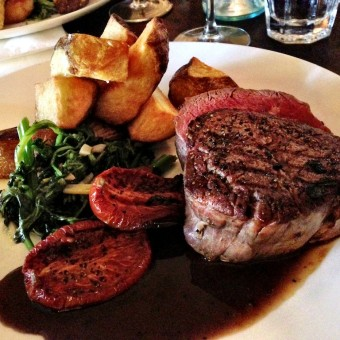 Steak at Fitzrovia in St Kilda