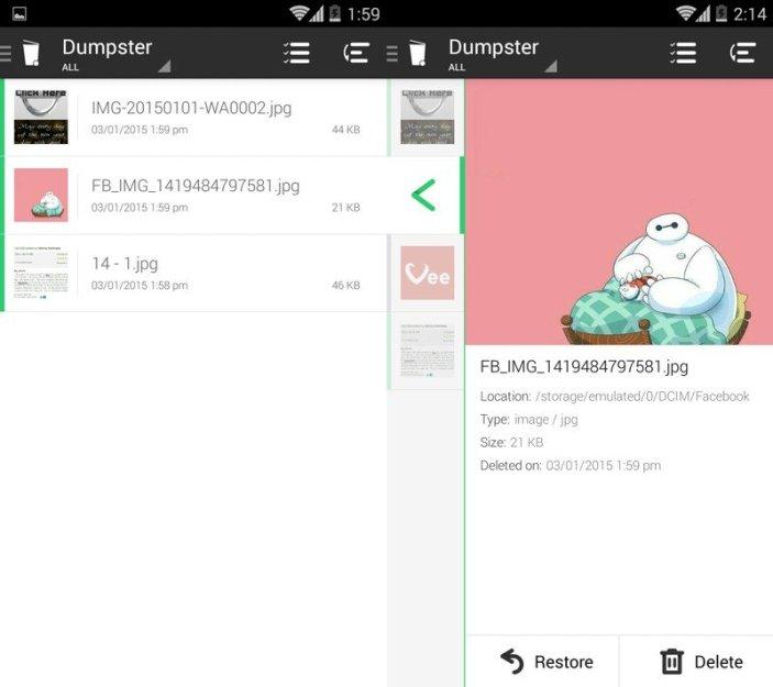 Cara menambahkan Fitur Recycle Bin di Android dengan Dumpster