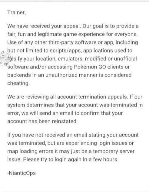 Cara mengembalikan akun Pokemon GO yang di Banned