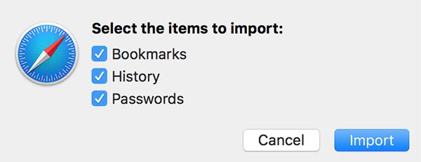 Cara Impor Data ke Safari dari Web Browser lain