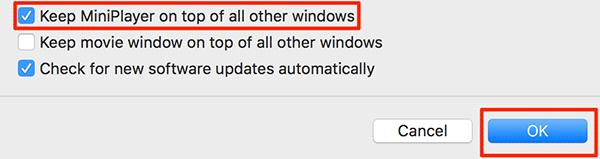 Cara Tempatkan iTunes Mini Player di Atas Semua Windows pada Mac