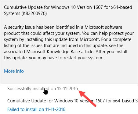 Cara Mencari History Update di Windows 10