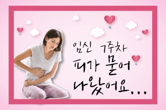 임신 7주 임신초기 출혈 초기출혈