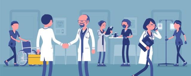 바쁜 의료진과 사람들