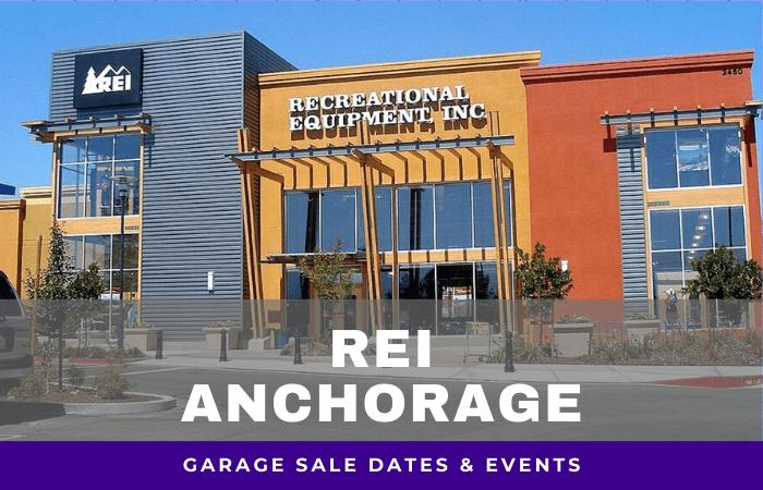 REI Anchorage Garage Sale Dates