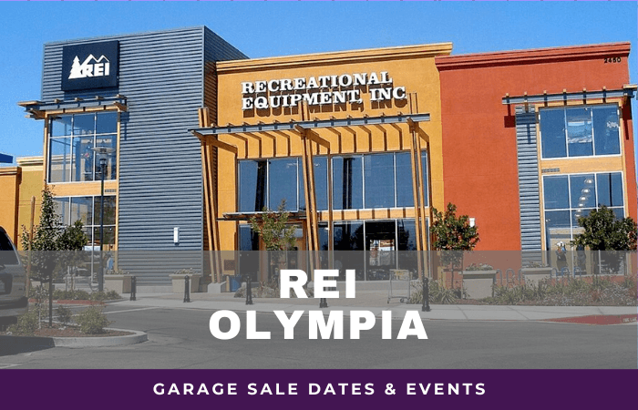 REI Olympia Garage Sale Dates