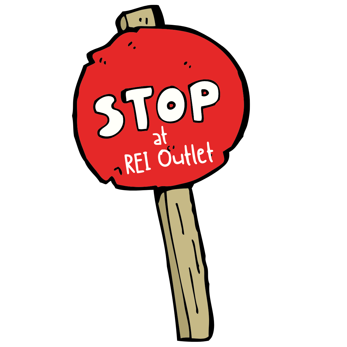 REI Red Stop Sign Without THE