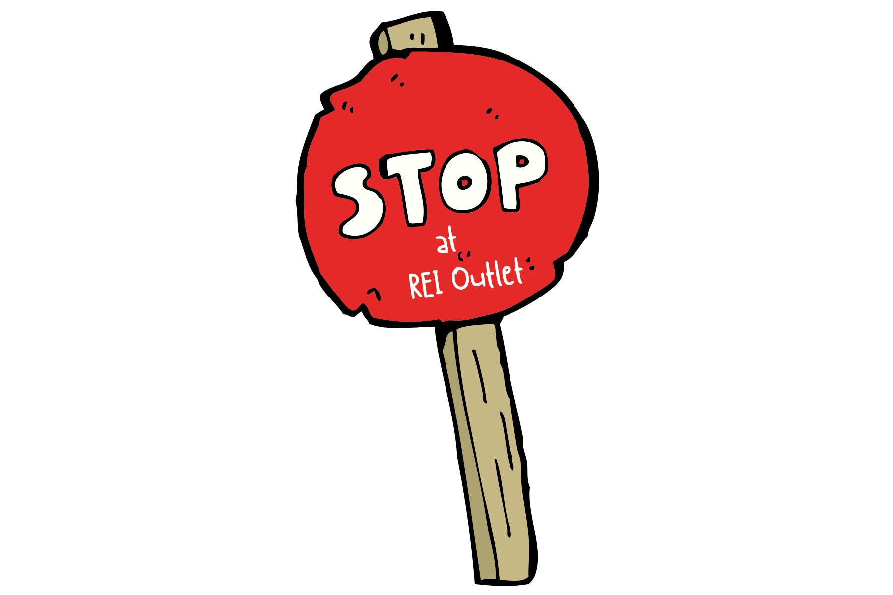 REI Red Stop Sign