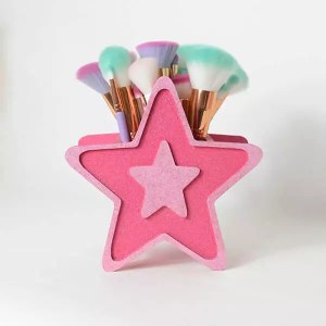 star makeup brush holder