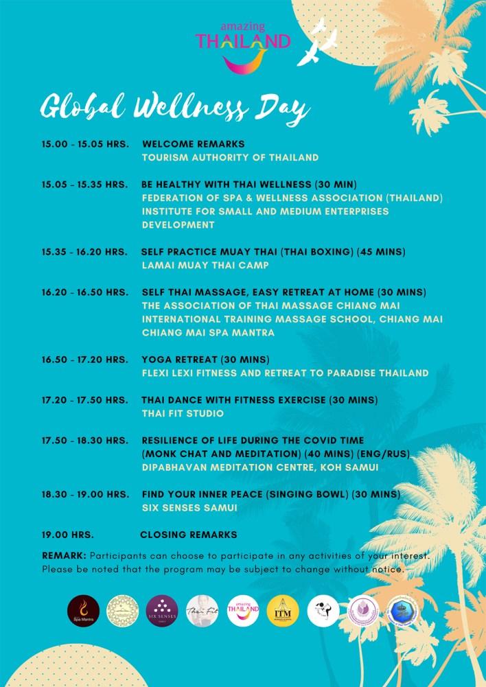 Amazing Thailand Global Wellness Day 2021 Virtual Celebration