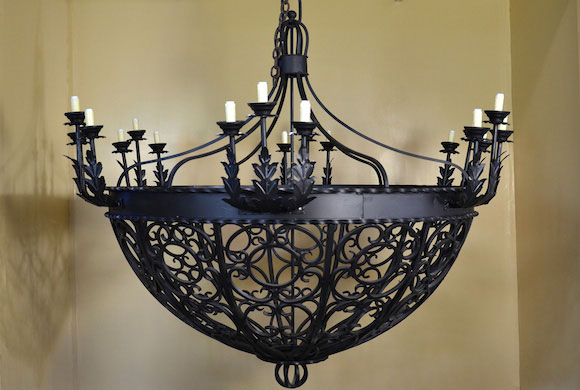 Large Iron Chandeliers Rustic Round Extra Wrought Foyer Chandelier