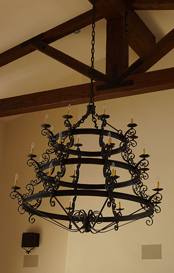 Spanish Style Chandelier Forged Iron Wrought