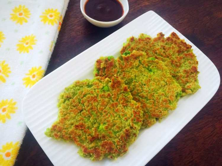 Cottage Cheese And Peas Oatmeal Pancakes